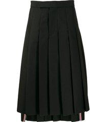 thom browne mohair wool pleated skirt - black