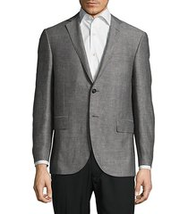 textured notch-lapel jacket