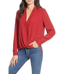 women's chelsea28 cross front blouse, size small - red