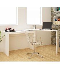 mesa para escritório bc 31 branco - brv móveis