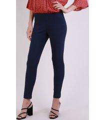 calça legging feminina bengaline cintura alta azul marinho