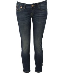 amy gee jeans - stretch 3/4 - donkerblauw