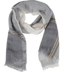 brunello cucinelli frayed edges scarf