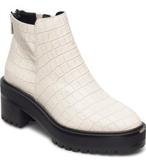 vmmelba boot shoes boots ankle boots ankle boot - heel vit vero moda