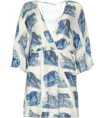 jurk met vleermuismouwen balwada  blauw