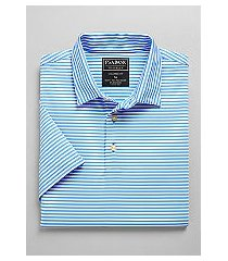 traveler collection tailored fit short-sleeve stripe men's polo shirt - big & tall