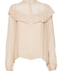 roxana shirt blouse lange mouwen crème nué notes