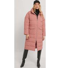 na-kd vadderad jacka med stora fickor - pink