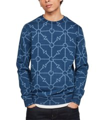 g-star raw men's geometric print sweatshirt, created for macy's