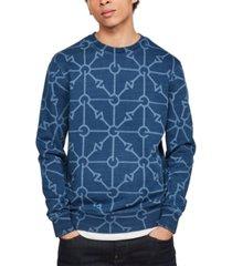 g-star raw men's geometric print sweatshirt, created for macy's