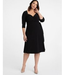 kiyonna women's plus size sweetheart knit wrap dress