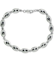 giani bernini polished oval bead link bracelet in sterling silver, created for macy's