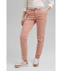 pantalón chino elástico rosado esprit
