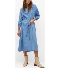 mango denim-effect dress
