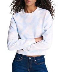 rag & bone women's city tie-dye sweatshirt - fuschia - size xxs