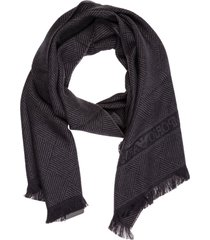 emporio armani cf-1 wool scarf