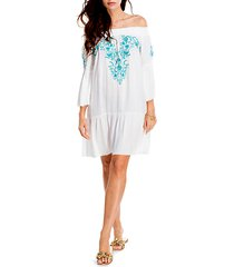 embroidered coverup dress