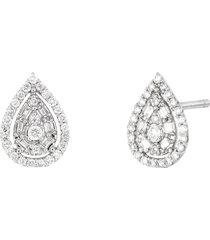 women's bony levy gatsby pear diamond halo stud earrings (nordstrom exclusive)