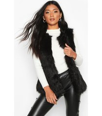 faux fur gilet, black