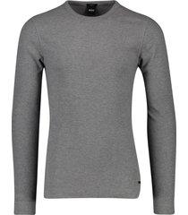 hugo boss t-shirt lange mouwen grijs