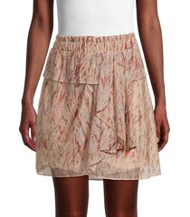 iro women's joucas ruffle abstract skirt - light pink - size 34 (2)