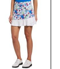 pga tour women's floral-print golf skort