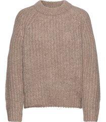 myles sweater wrp gebreide trui beige iben