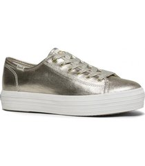 zapatilla triple kick metallic dorado keds