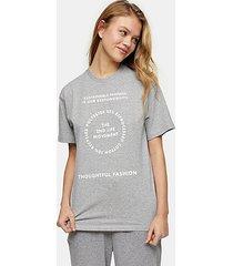 2nd life motif t-shirt in gray marl - grey marl