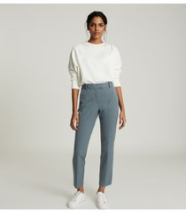 reiss joanne - slim fit tailored trousers in teal, womens, size 12