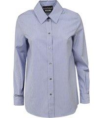 boutique moschino round hem stripe shirt