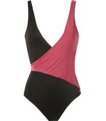 brigitte colour-blocked swimsuit - multicolour