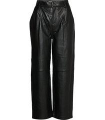 aliahgz culotte leather leggings/byxor svart gestuz