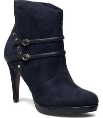 woms boots shoes boots ankle boots ankle boots with heel blå tamaris heart & sole