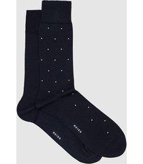 reiss graham - two pack socks in navy, mens