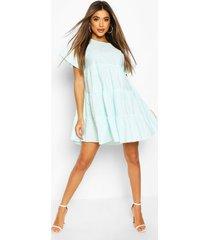 polka dot tiered smock dress, mint