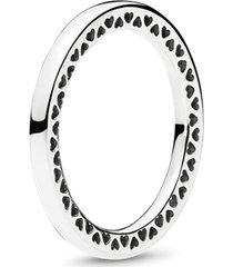 anel clássico corações pandora
