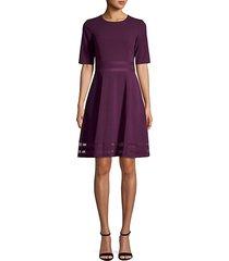 short-sleeve illusion mesh dress