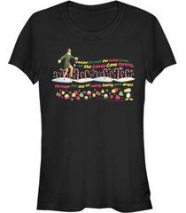 fifth sun elf buddy's journey through the candy cane forest women's short sleeve t-shirt