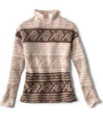 natural fair isle dolman sweater