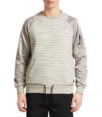 mixed media popover crew sweatshirt