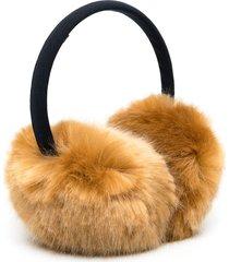 hucklebones london faux fur earmuffs - brown