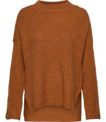 part sweater stickad tröja brun hope