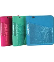 "hilroy zipper glitter glam sequin 1.5"" 3 ring expandable binder pick your color"