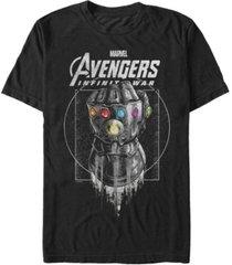 marvel men's avengers infinity war black and grey ancient gauntlet short sleeve t-shirt