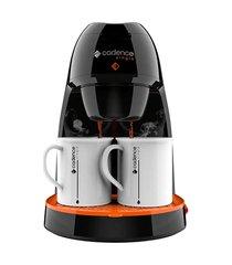cafeteira elétrica cadence single contrast caf218 450w preto/laranja 220v