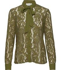 shirt ls blouse lange mouwen groen rosemunde