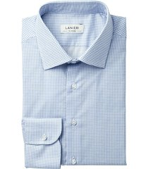 camicia da uomo su misura, canclini, azzurra fantasia zephyr, primavera estate | lanieri