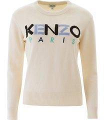 kenzo logo patch sweater