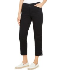 charter club button-cuff tummy control capri pants, created for macy's